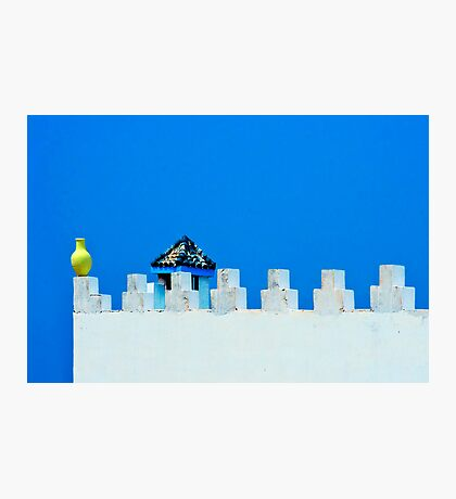 Battlements in Blue Photographic Print