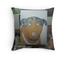 Painting Buster The Dog Throw Pillow