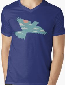 Skylark Mens V-Neck T-Shirt
