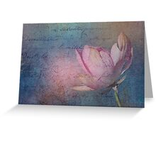 Textured Lotus Greeting Card