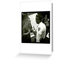 Occupy Wall Street - Protester and Officer 10/5/2011 Greeting Card