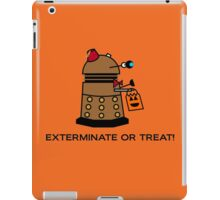 Exterminate or Treat - Full Color iPad Case/Skin