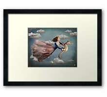 Voyage in the sky Framed Print
