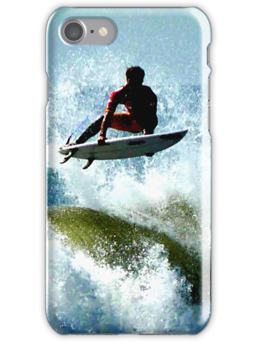 Surfer iPhone case by andytechie