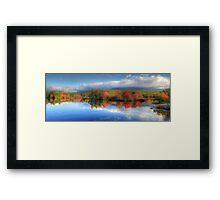 Autumn Panorama - Mt. Katahdin Framed Print