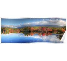 Autumn Panorama - Mt. Katahdin Poster