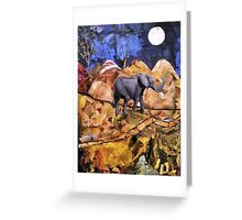 Midnight Elephant - 2 Greeting Card