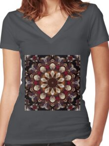 The BEET mandala Women's Fitted V-Neck T-Shirt