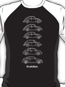 Evolution of the Volkswagen Beetle - for dark tees T-Shirt