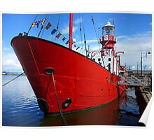 Lightship, Cardiff Bay, Cardiff, Wales Poster