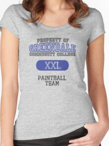 Greendale paintball team Women's Fitted Scoop T-Shirt
