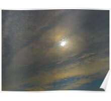 Marbled sky Poster