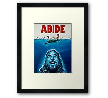 The Big Lebowski Abide Jaws Framed Print