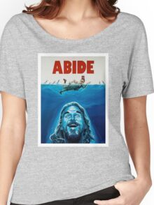 The Big Lebowski Abide Jaws Women's Relaxed Fit T-Shirt
