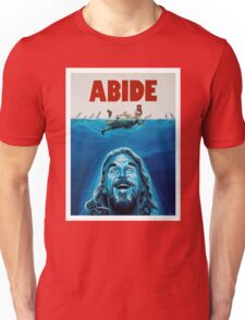 The Big Lebowski Abide Jaws Unisex T-Shirt