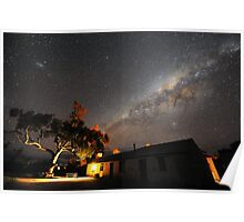 Edeowie Station Under the Milky Way Poster