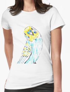 Budgie in Love Womens Fitted T-Shirt