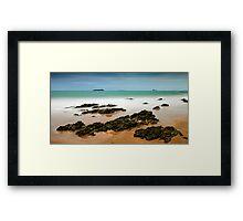 Emerald Shore Framed Print