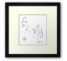 mia leaning forward Framed Print