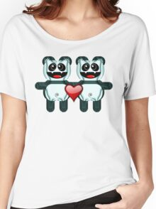 PANDA LOVE Women's Relaxed Fit T-Shirt