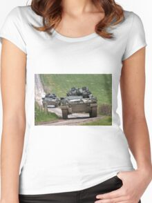 British Army Warrior Infantry Fighting Vehicle Women's Fitted Scoop T-Shirt
