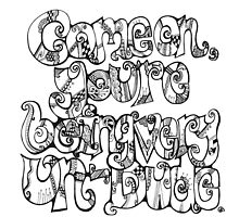 Big Lebowski quote - hand drawn 'Come on you're being very un-dude'. by julessteed
