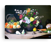 The Country Table Canvas Print