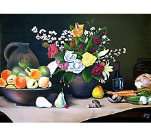 The Country Table Photographic Print