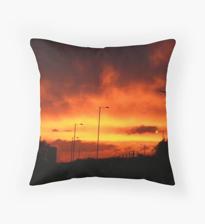 Sunset over Rotherham Throw Pillow