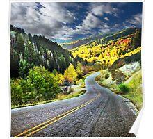 Autumn Drive, Utah Poster