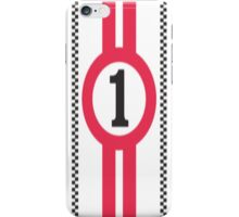 Racing Theme Red/White 1 iPhone Case/Skin