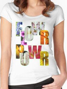flower power t Women's Fitted Scoop T-Shirt