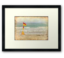 Swim between the Flags. Framed Print