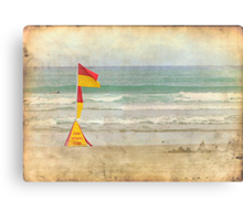 Swim between the Flags. Canvas Print