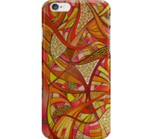 Abstract Tangerine iPhone Case/Skin