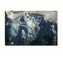 glacier face detail Art Print