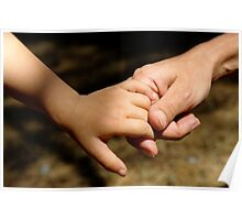 Mother holding baby daughter's (2-4) hand Poster