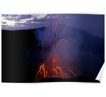 Yasur Volcano erupting Poster