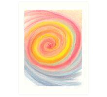 Swirling Rainbow Lollipop Art Print