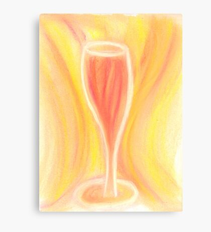 Golden Delight in a Glass Canvas Print