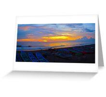 Sunset at Casares Beach, Nicaragua Greeting Card