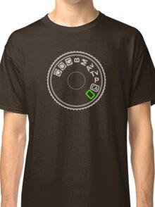 Camera Mode Dial Silver Green Classic T-Shirt