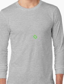 Camera Mode Dial Silver Green Long Sleeve T-Shirt