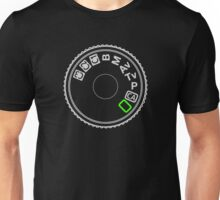 Camera Mode Dial Silver Green Unisex T-Shirt