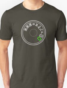Camera Mode Dial Silver Green T-Shirt