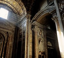interior of St Peter's Basilica by Sami Sarkis