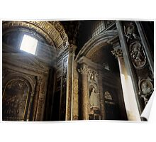 interior of St Peter's Basilica Poster