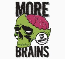 More Brains Kids Tee