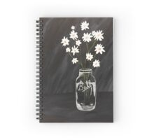 Daisies in Ball Jar- Unsaturated Spiral Notebook