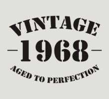 Vintage 1968 birthday by personalized